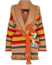 Alanui X Peanuts® – Cardigan Gaucho en laine et cachemire - Multicolore