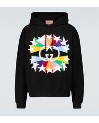 Gucci Interlocking G Star Hooded Sweatshirt - Black