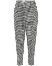 AMI Pantalones rectos en mezcla de lana - Gris