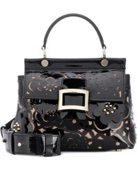Roger Vivier - Viv' Cabas Small Patent Leather Tote - Lyst