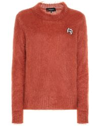 Rochas Embellished Mohair-blend Sweater - Red