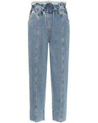 Philosophy Di Lorenzo Serafini Paperbag High-rise Tapered Jeans - Blue