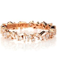 Suzanne Kalan 18-karat Gold Diamond Ring - Metallic