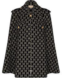 Gucci Cape aus Wolle - Schwarz