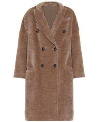 Brunello Cucinelli Cappotto in lana e alpaca - Marrone
