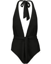 Alexandra Miro Eva Halterneck Swimsuit - Black