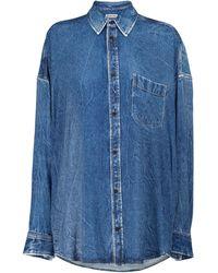 Balenciaga Oversize-Jeanshemd - Blau