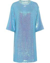 Off-White c/o Virgil Abloh Sequined Dress - Blue