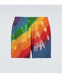 The Elder Statesman Rainbow Void Shorts - Multicolour