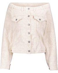 Ganni X Levi's® - Giacca di jeans con scollo bardot - Multicolore