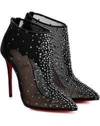 Christian Louboutin Constella 100 Mesh Ankle Boots - Black