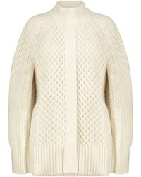 Alexander McQueen Wool And Cashmere Cape - White