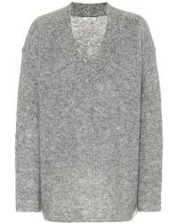 Ganni Pullover in lana e mohair - Grigio