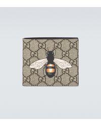 Gucci Cartera GG Supreme con estampado de abeja - Multicolor