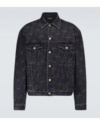 Balenciaga Chaqueta de jeans de ajuste grande - Negro