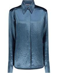 Acne Studios Camicia in raso - Blu