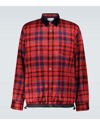 Sacai Chaqueta tipo camisa de cuadros - Rojo