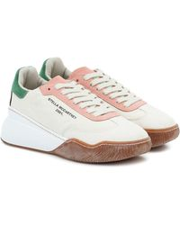 Stella McCartney Sneakers Loop mit Schnürung - Weiß