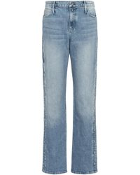 RTA High-Rise Straight Jeans Michael - Blau