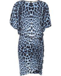 Roberto Cavalli Bedrucktes Minikleid - Mehrfarbig