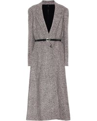 Petar Petrov Maeve Belted Wool And Silk-blend Coat - Multicolour