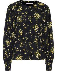 Emilia Wickstead Margot Floral Stretch-crêpe Blouse - Black