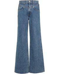 SLVRLAKE Denim Jeans anchos Grace de tiro alto - Azul
