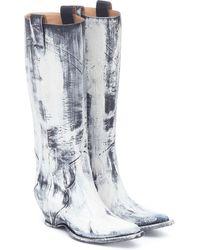 Maison Margiela Stiefel aus Leder - Weiß