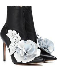 Sophia Webster Exclusivité Mytheresa – Bottines stretch en cuir Jumbo Lilico - Noir