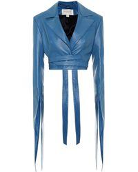 Materiel Tbilisi Faux-leather Jacket - Blue