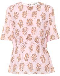 Acne Studios Floral-printed Top - Pink