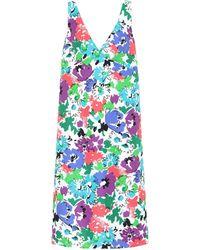 Plan C Vestido midi de sarga floral - Multicolor
