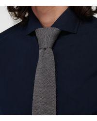 Brunello Cucinelli Corbata de punto de lana - Gris