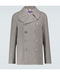 Ralph Lauren Purple Label Chaquetón de lana botonadura doble - Gris