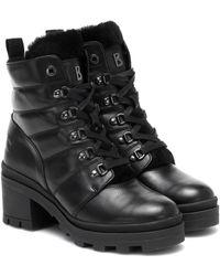 Bogner Belgrade Leather Ankle Boots - Black