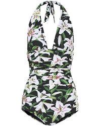 Dolce & Gabbana Costume intero a stampa floreale - Multicolore