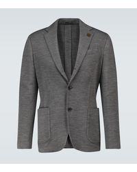 Lardini Blazer Easy Drop 7 in lana - Grigio