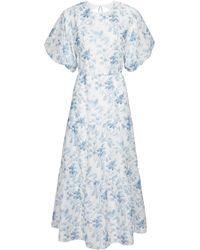 Sir. The Label Exclusive To Mytheresa – Floral Tiered Midi Dress - Blue