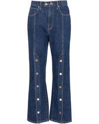 SLVRLAKE Denim X Ellery Stagecoach Embellished Jeans - Blue