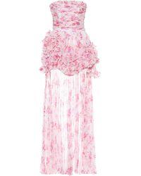 Philosophy Di Lorenzo Serafini Floral Chiffon Strapless Minidress - Pink