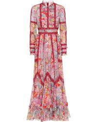 Valentino Vestido Jardin de Fleurs - Rojo