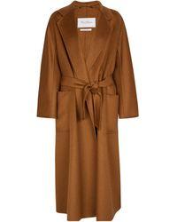 Max Mara Labbro Cashmere Wrap Coat - Brown