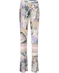 Emilio Pucci Printed High-rise Straight Jersey Pants - Multicolor