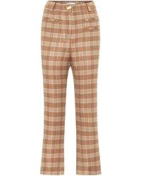 Rejina Pyo Finley High-rise Check Trousers - Natural