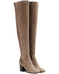 Jimmy Choo - Harlem 65 Suede Over-the-knee Boots - Lyst