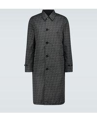 Burberry Manteau réversible à logo - Noir