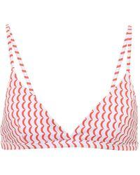 Asceno Top de bikini Genoa estampado - Rojo