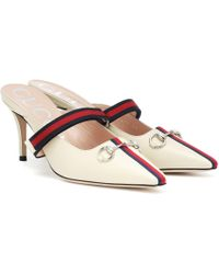 Gucci Emma Leather Mules - Multicolor