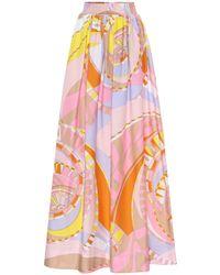 Emilio Pucci Jupe longue imprimée en coton mélangé - Multicolore