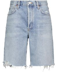 Citizens of Humanity Ambrosio High-rise Denim Shorts - Blue